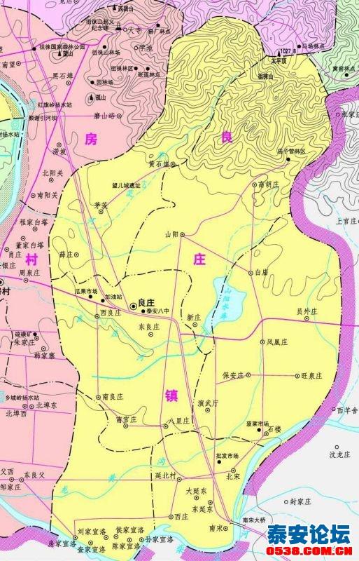 【岱岳区各乡镇高清地图】