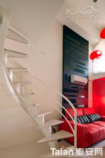 旋转型楼梯不占空间又美观-爱上层次感 迷你复式楼梯设计