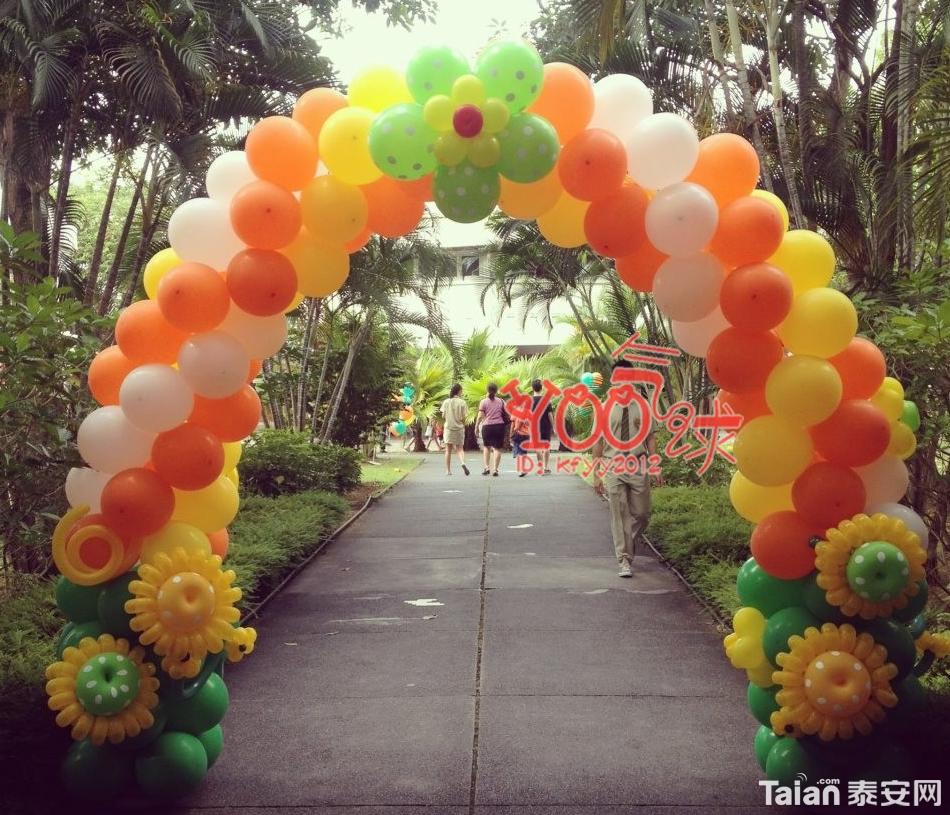 [婚纱摄影] 设计制作有创意的气球喜庆会场----婚礼,寿宴,商场会所