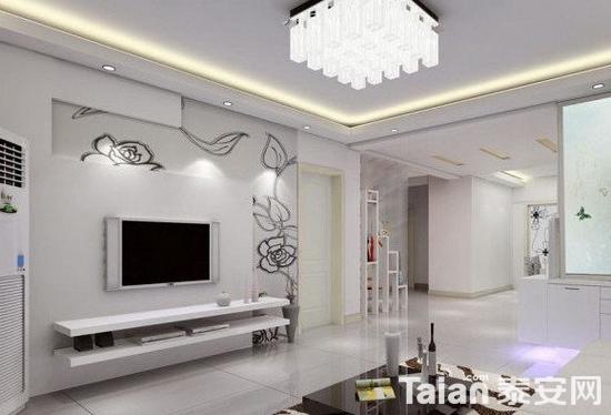 欧式客厅电视背景墙 气质上的提升