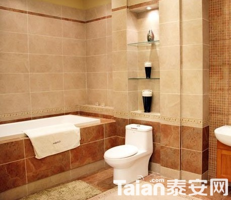 卫浴间如何挑选防滑的瓷砖