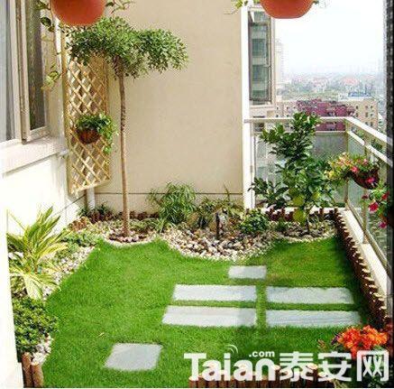 绿色瓷砖阳台效果图