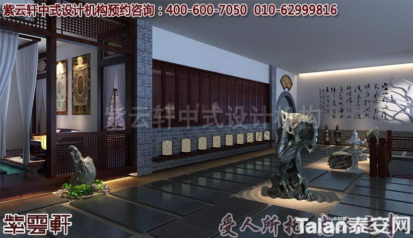 紫云軒大城紅木家具展廳中式裝修案例賞析