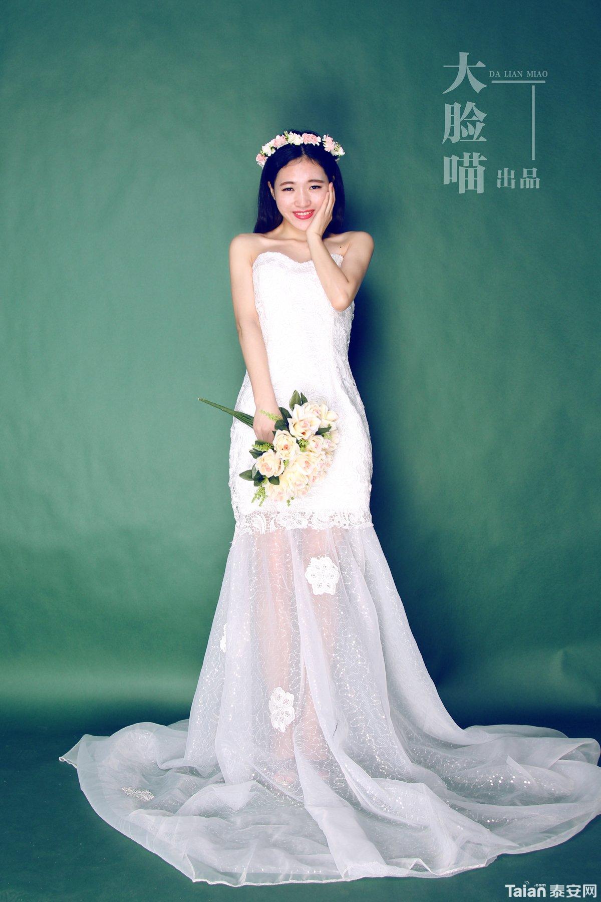 画婚纱带脸步骤图