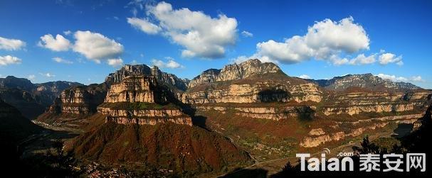 林州太行大峡谷全景