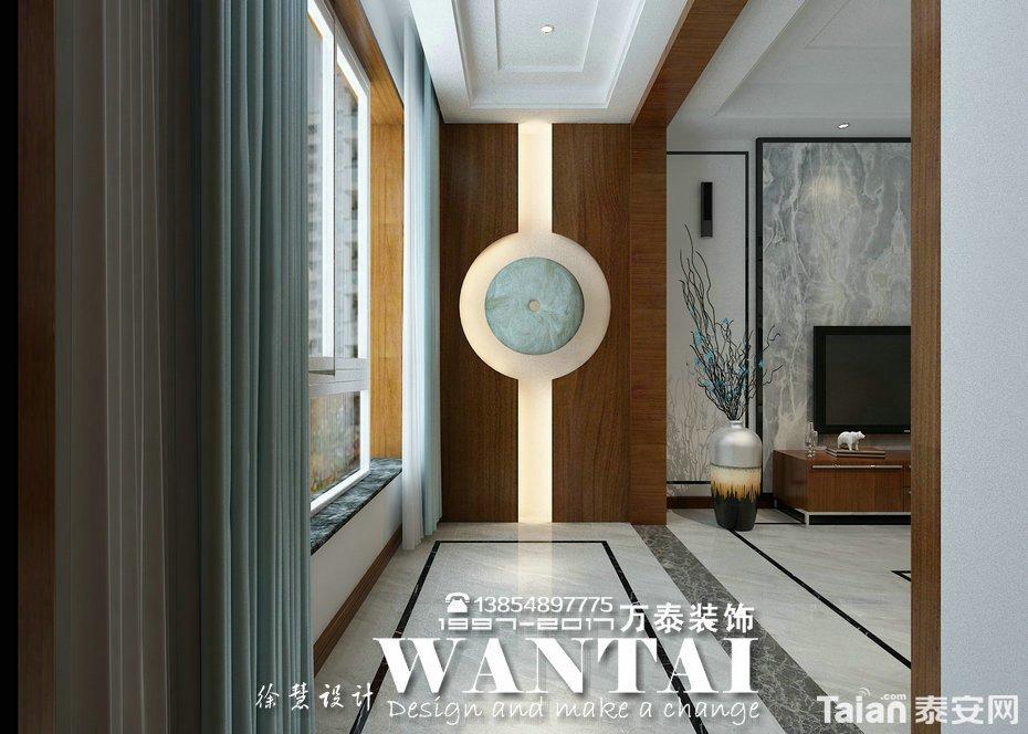 柔白的沙发搭配水墨画的背影墙,美不胜收. | 客厅图片