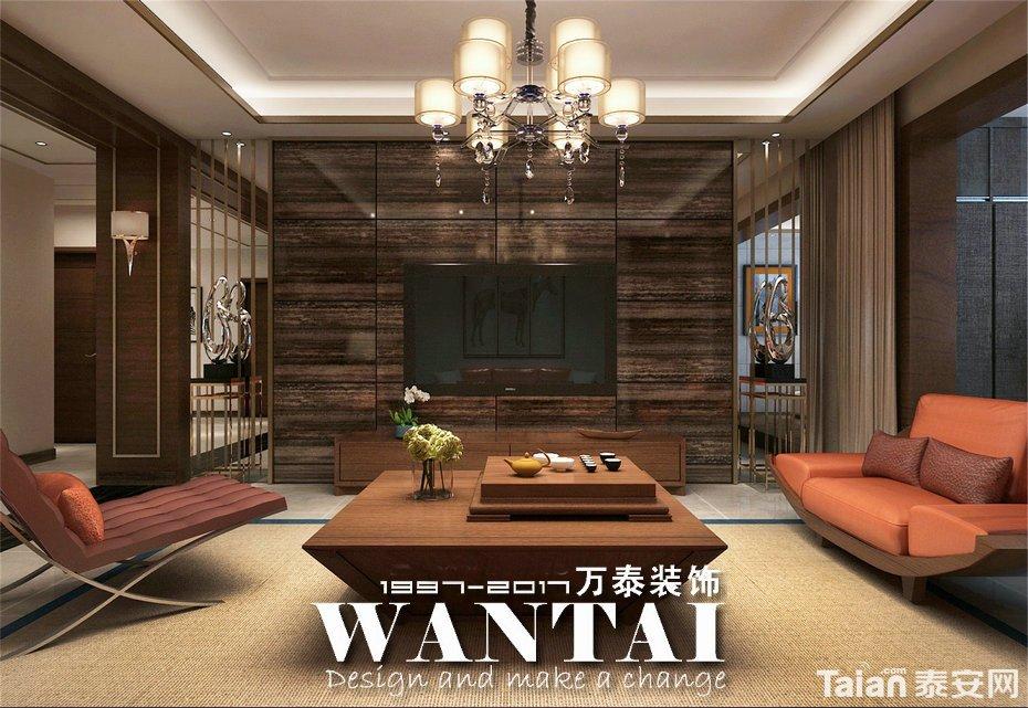 港式风格装修效果图,由泰安设计师王凯主持设计,冷暖色调夸张的搭配