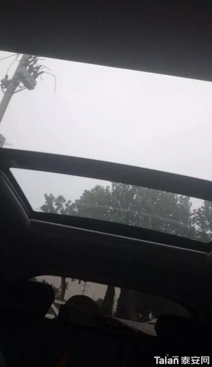 超大的天窗,只可惜不是晴空万里、