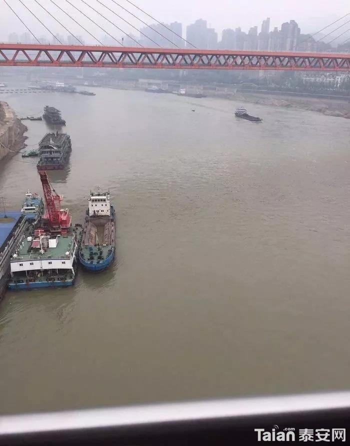 这也是我第一次这么近距离的观看长江、、