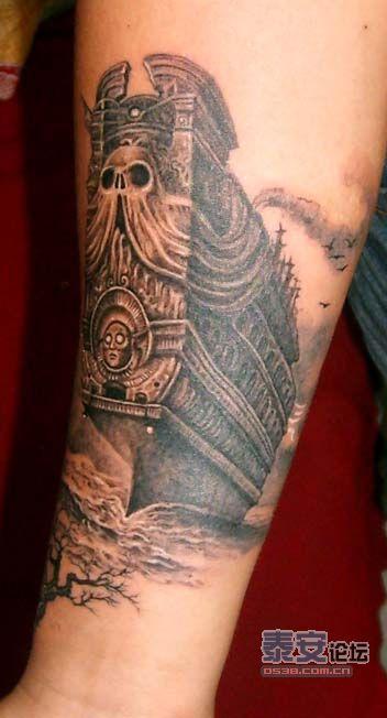 纹身 绘画 和我们的照片