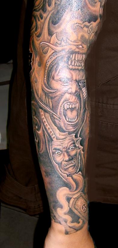花臂男纹身图案大全图片