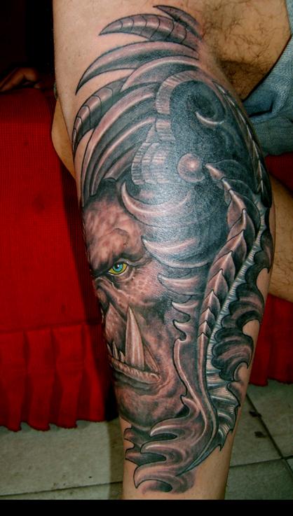 最近的纹身作品~(美人鱼变机械