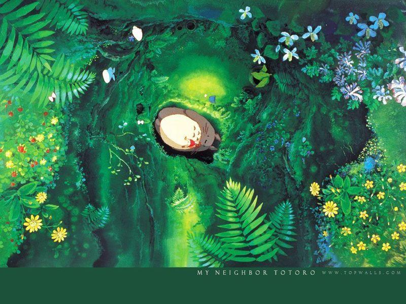 宫崎骏动漫风景手绘