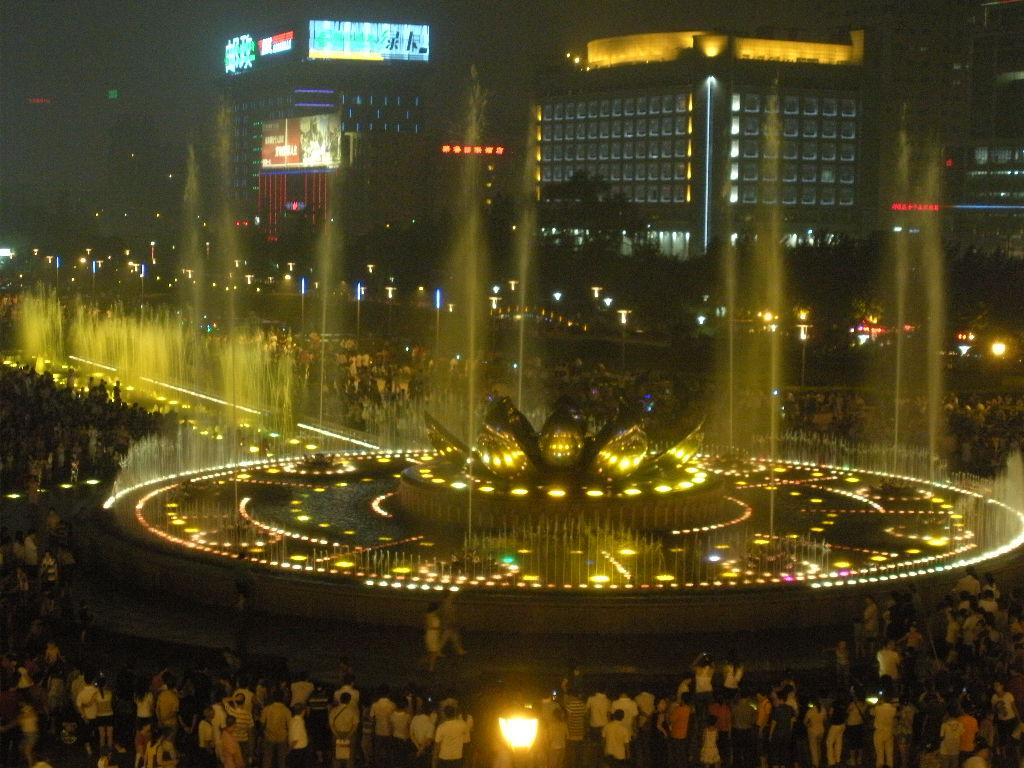 泉城广场音乐喷泉夜景,上pp.