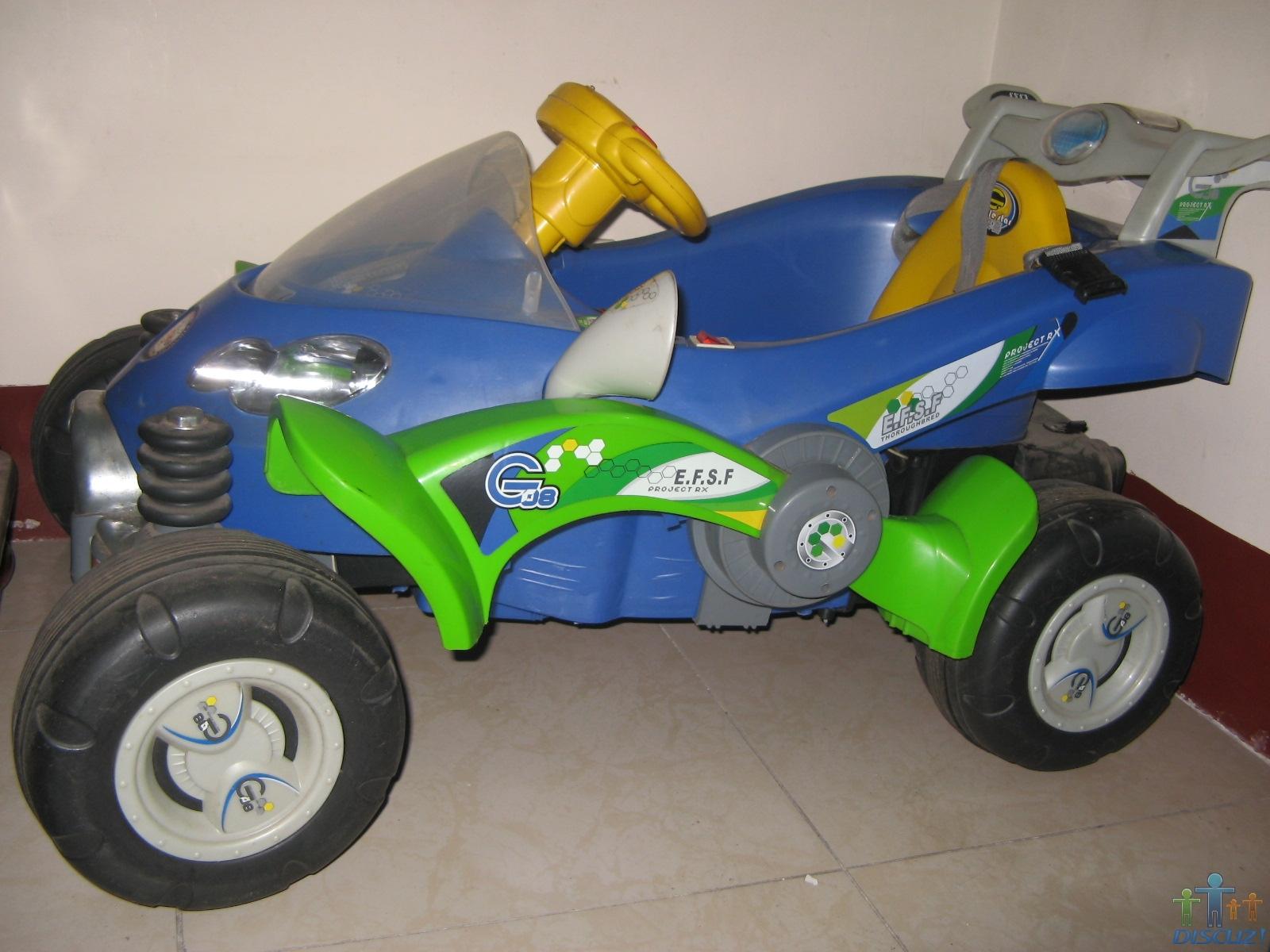 处理儿童电动车