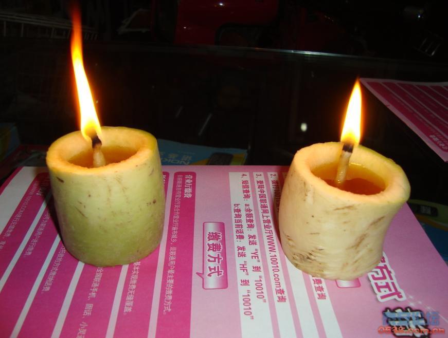 做了两个萝卜灯