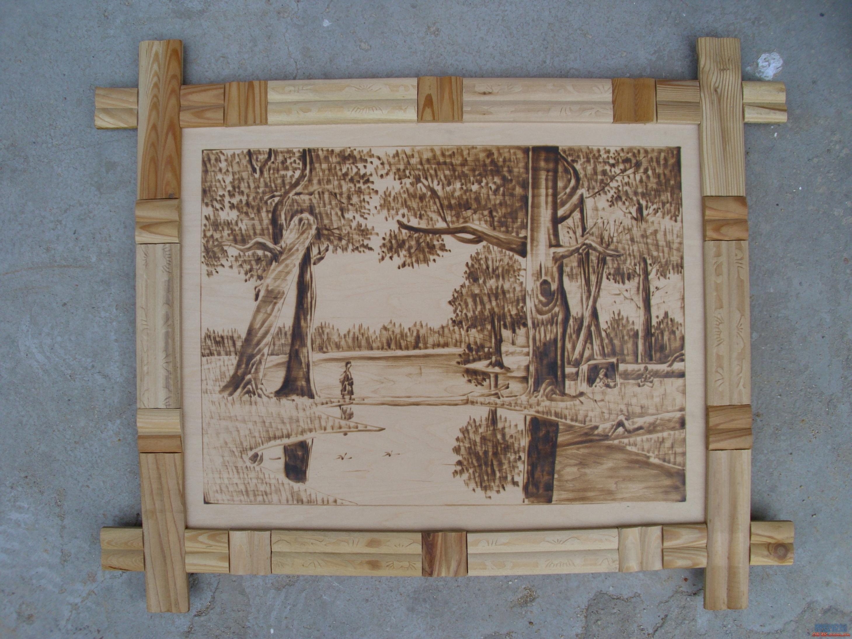 出售木板烙画..